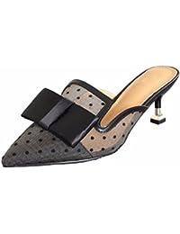 GTVERNH Scarpe da Donna Semi - Figo Pantofole Ha Sottolineato Le Donne  Estate Garza Respirabile d9f3867fd7d