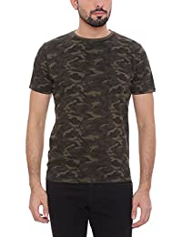BASICS Muscle Fit Military Green Crew Neck T.Shirt
