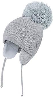 DRESHOW Sombrero de Bebé Gorro de Bebé Niña Lindo Oso Oreja Recién Beanie Gorro de Punto Cálido para Otoño Inv