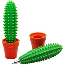 CAOLATOR Cactus Bolígrafos, Decoraciones de Escritorio Decoración Creativa para Oficina y Escuela