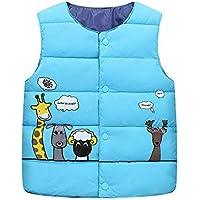 Bodys Bebe Niño,Ropa De Bebe Niño,Niños Niños Niñas Niño Sin Mangas Animal Print Warm Jacket Chaleco Tops