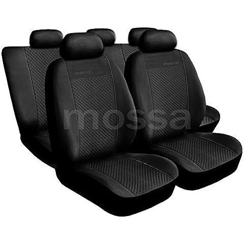 (PG-1) Universal Fundas de asientos compatible con BMW (1, 2, 3, 5, 7, X3, X5, X6) (Alcantara)