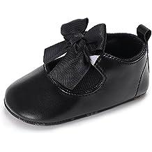 SIHUA Scarpe Primi Passi Pantofole Neonato Scarpe Bimba in PU Pelle Scarpine per Neonati