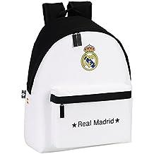 Real Madrid - Mochila, 32 x 40 cm, color blanco (Safta 641526774)