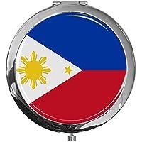 """metALUm - Extragroße Pillendose in runder Form""""Flagge Philippinen"""" preisvergleich bei billige-tabletten.eu"""