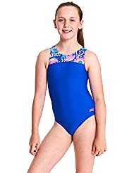 Zoggs Girls' Ocean Play Infinity Back One Piece Swimsuit