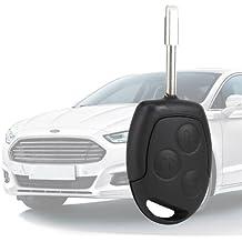 3 BOTTONI TELECOMANDO INGRESSO PORTACHIAVI Lama per Ford Mondeo Fiesta Focus Ka Transit COMPLETO 433 Mhz