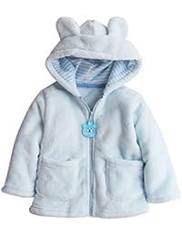 Baby Boy Girl Hoodies Coat Tops gruesos Ropa de abrigo para niños con cremallera y bolsillos
