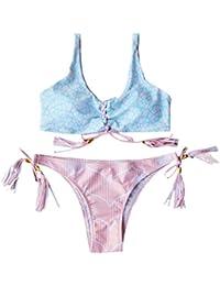YARBAR Mujeres push-up bikini brasileño del vendaje atractivo del traje de baño de la playa