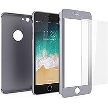 Funda iPhone 6s 360 Integral Para Ambas Caras + Protector de Pantalla de Vidrio Templado, Mobilyos® [ 360 ° ] [ Gris Espacial ] Case / Cover / Carcasa iPhone 6s / 6