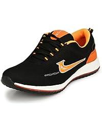 REVOKE Unisex Flame Black Orange Running Shoes