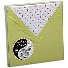 Lot de 100 enveloppes 120g 14x14cm coloris vert bourgon doublure Pois