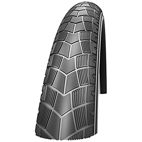 Schwalbe Big Apple Plus Performance Line Twin Skin Green Guard Endurance Wired Tyre - Reflex Black, 20 x 2.15 Inch by Schwalbe
