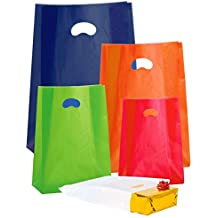 Propac z-shf35a Shopper de PE-HD colores con fuelle, Naranja, 35x 50cm, 100unidades