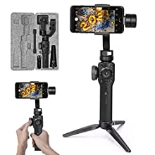 """Zhiyun Smooth 4 Phone Gimbal Stabilizer New Version Compatible with FiLMiC Pro for iPhone Huawei Samsung Smartphone within 6"""" up to 210g Gopro 7/6/5/4/3+ Zhyiun Gimbal New Smooth-Q/III (Black)"""