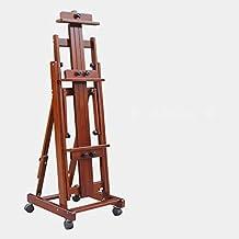 SMBYLL Elevador de Madera Maciza Plegable Profesional de Gran Caballete, Uso Vertical Doble Paralelo,