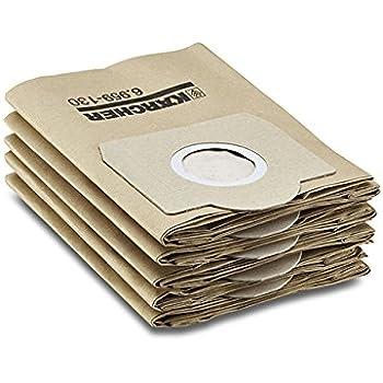 Kärcher Sachet filtre papier accessoire pour les aspirateurs multifonctions eau et poussières WD 3, WD 3300 M, WD 3500 P,A 2204, A 2254 Me, A 2504, A 2554 Me, A 2604, A 2654 Me, A 2656 X+, A 2674 PT+, A 2251 et A 2901