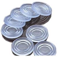 Almohadillas protectoras de cristal para parte superior de la mesa, antideslizantes, de goma, con ventosa, de plástico, 24 x 2 mm