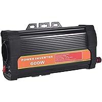 WZTO 600W Inversor de Corriente DC 12V a AC 220V-240V Convertidor de Corriente con 2 Puertos USB 5V/2.1A y 1 Toma Enchufe, Inversor para Coche Camping Camión RV (600W)