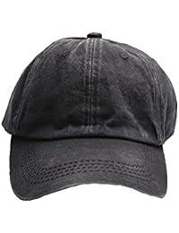 Accessoryo - Unisex noir en denim bonnet style cap