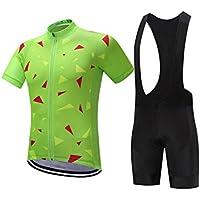 XDXDWEWERT Pantalones de Ciclismo Pantalones de Montar en BIC Camiseta Ultraligera de Ciclismo de Verano para Hombre Ropa de competición cómoda Jersey de Bicicleta Negro Bib XXL