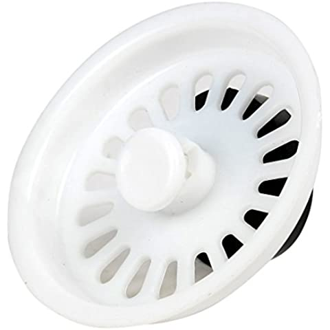 Plástico extraíble cuenca del fregadero la cesta del filtro 73mm Dia de drenaje Blanca