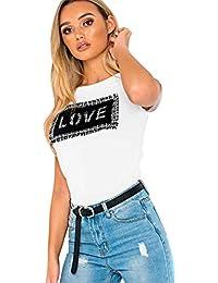 d22ba7411 Ikrush Womens Jacks Slogan Graphic T-Shirt White