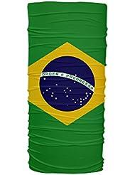 Brasil Flag Multifunción Braga de Cuello Protección UV Tubular