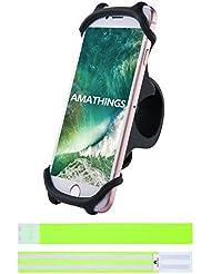 Fahrrad-Smartphonehalter In Verschiedenen farben Und 2 Reflektierende Hosenschutz-Bänder Auto-Lenkrad-Halter Für Smartphones Bis 5,5'' Von Amathings