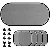5 unids/Set Ventana del Coche sombrilla de Malla Auto Cortina de la Visera con Ventosa Delantera Trasera Cortina Lateral Car Styling Cubre sombrilla