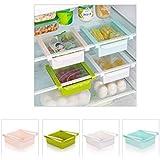 Kicode Rack de almacenamiento de usos múltiples Nevera Contenedor de comida por Ahorro de espacio