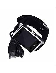 Sport extérieur Smart Watch, forme Mode, Notification Bluetooth synchronisation GPS Tracker de fitness montre de sport, compteur de calories, USB rechargeable étanche LED Lampe de poche, prise en charge IPhone Smartphone Android