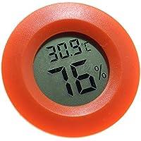 LAAT Termómetro Higrómetro Digital Redondo Sensor de Humedad del Monitor Pantalla de LCD para Caja Reptil Tortuga Lagarto