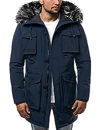 OZONEE Herren Winterjacke Parka Jacke Kapuzenjacke Wärmejacke Wintermantel  Coat J.Boyz X1021K 829f2d4bcc