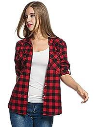 6fe0b80799 Amazon.it: A quadri - Bluse e camicie / T-shirt, top e bluse ...