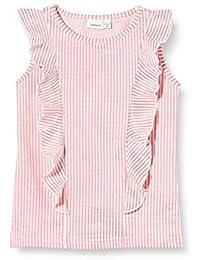 NAME IT Nmffastripe Cap SL Top Camiseta sin Mangas para Niñas
