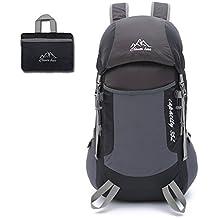 techway Durable Packable ligero plegable mochila senderismo viajes Mochilas Mochila, negro