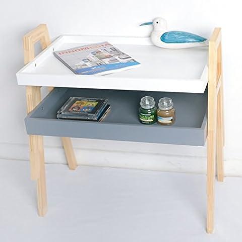 2er Set de casa de agarre de la estantería de cocina bandeja de desayuno con mesa auxiliar Stapelregal_13A-043T