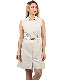 DESIRES Drew Damen Blusenkleid Lange Bluse Kleid Mit Nadelstreifen Aus 100%  Baumwolle Knielang 0dedd714f3