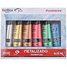 Plascolor PP184 Acrylfarben-Set, 6 Stück, mehrfarbig