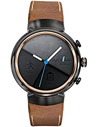 Kartice para Asus ZenWatch (3bandas, Vintage Piel Auténtica Smart reloj banda correa Reemplazo Watchband con seguro cierre hebilla de metal para Asus ZenWatch 3WI503Q (brown-14mm)