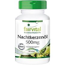 fairvital - 90 cápsulas blandas de aceite de onagra (500 mg) - Rico en
