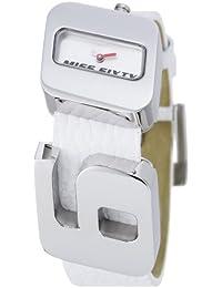 Miss Sixty Just time SJ8003 - Reloj de mujer de cuarzo, correa de piel color blanco