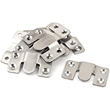 Conector de sofa - TOOGOO(R) 10 piezas connectores de sofa de estilo de enclavamiento de muebles modulares de tono de plata