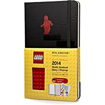 Moleskine 2014 LEGO Limited Edition Weekly Planner+Notes, 12 Month, Large, Black, Hard Cover (5 x 8.25) (Planners & Datebooks) by Moleskine (2013-05-22)