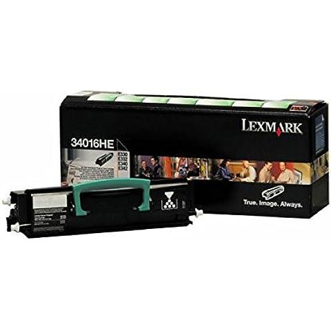 Lexmark 34016HE - Tóner, color negro