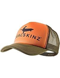 SealSkinz Trucker Cap - Tangerine/Dk Olive
