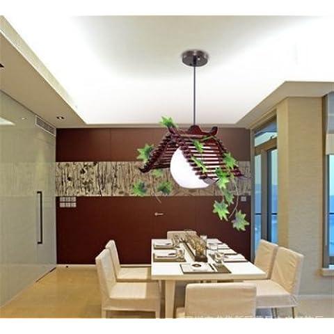YFF@ILU Seppia antiche in legno di palissandro corridoio corridoio hall ristorante è soggiorno l'hotel bar lounge, studiare le lampade creative - Palissandro Finitura