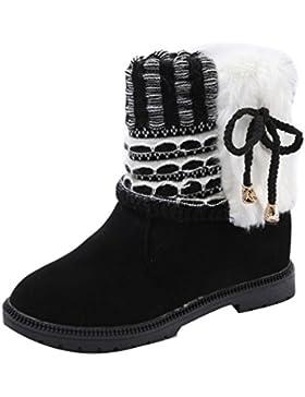 Stiefel damen Kolylong® Frauen Elegant Stiefeletten Flach Herbst Winter Warm Stiefel Kurz Vintage Martin Stiefel...