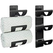 MetroDecor mDesign Juego de 2 toalleros de baño para Montar en la Pared – Estante toallero